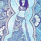 Henna Belly Dancer  by April Hammond