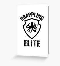 Grappling Elite MMA Fighting Design Greeting Card