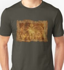 antique map of the world scroll parchment T-Shirt