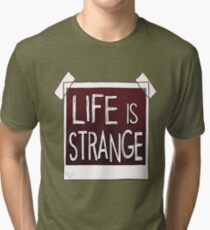 note's life is strange Tri-blend T-Shirt