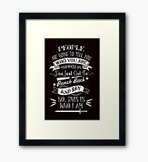 Emma Best Quote.  Framed Print