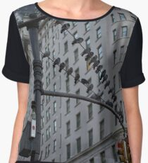 Pigeons Chilling in New York Chiffon Top