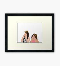 Broad City KWEENS Abbi and Ilana Framed Print