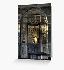 Door to decay Greeting Card