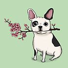 French Bulldog - Black/White  by agrapedesign