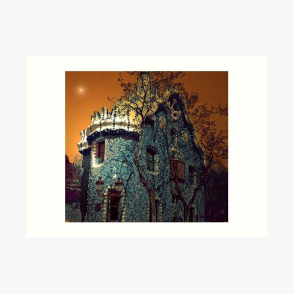 GAUDI BUILDING BARCELONA Art Print