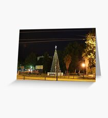 Lighting of the Christmas Tree - Bendigo Greeting Card