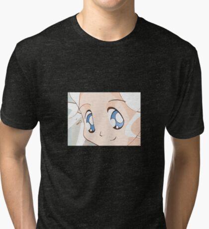 Manga girl 01 Tri-blend T-Shirt