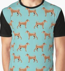 Irish Terrier dog breed pet portrait minimal dog patterns by pet friendly terriers Graphic T-Shirt