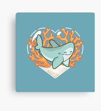 BYTE the Great White Shark Canvas Print