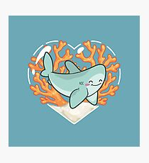 BYTE the Great White Shark Photographic Print