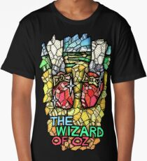 The Wizard of Oz - Stained Glass Art Long T-Shirt