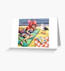 beach picknick Greeting Card