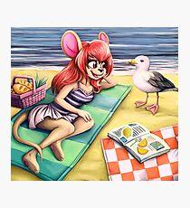 beach picknick Photographic Print