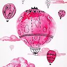 Pink Hot Air Baloons by Ekaterina Chernova
