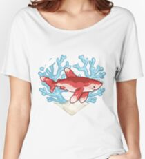 PECK the Whitetip Reef Shark Women's Relaxed Fit T-Shirt