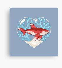 PECK the Whitetip Reef Shark Canvas Print