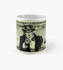 usa one dollar bill mockup Mug