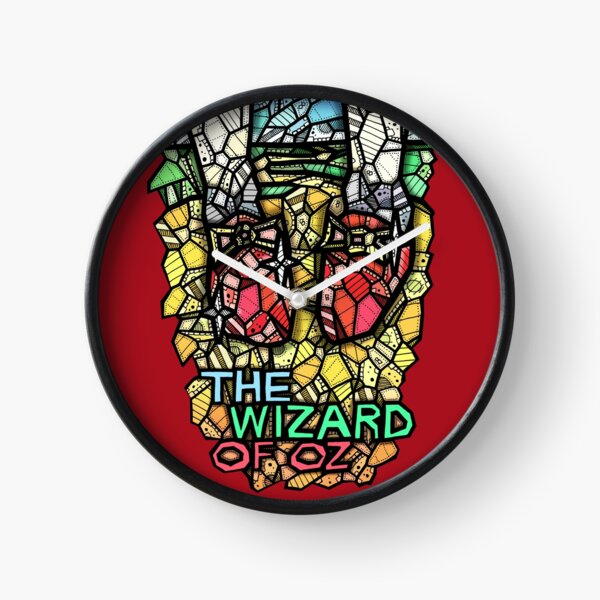 The Wizard of Oz - Stained Glass Art Clock