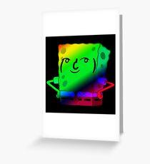 Spongebob Lenny Face Greeting Card
