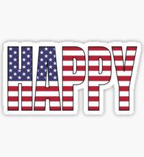 Happy (USA) Sticker