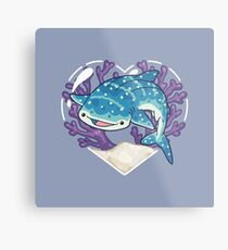 NOM the Whale Shark Metal Print