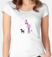 Lady with a dog  Women's Fitted Scoop T-Shirt
