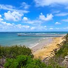 Point Lonsdale Pier and the Rip by AHELENE