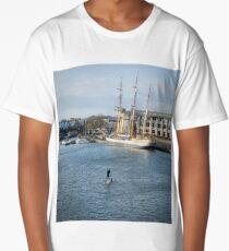 Bristol Docks in Winter Long T-Shirt