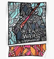 Star Wars - Return of the Jedi - Stained Glass Art Poster