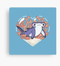 NIBBLE the Hammerhead Shark Canvas Print