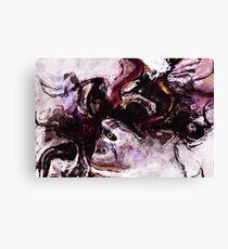Purple Abstract Art / Surrealist Painting Canvas Print