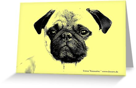 mops puppy yellow - french bulldog, funny, cute, love by fuxart
