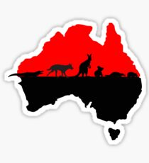 Australia red Sticker