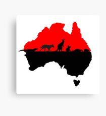 Australia red Canvas Print
