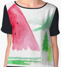 The Sweet Outdoors - By Merrin Dorothy Women's Chiffon Top