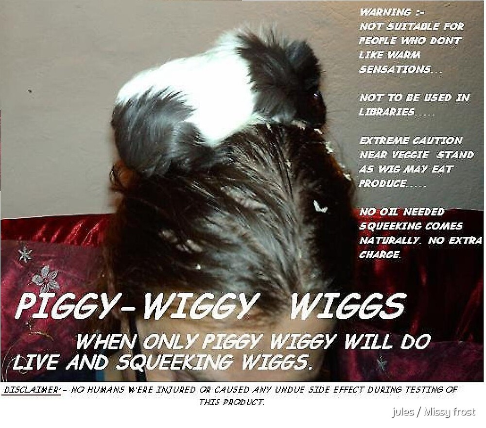 Piggy Wiggy Wig Go large by jules / Missy frost