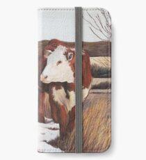 Steer in late winter iPhone Wallet/Case/Skin