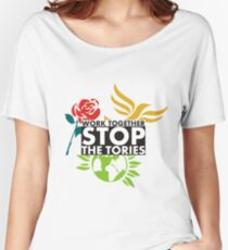 Work Together - Stop The Tories Women's Relaxed Fit T-Shirt