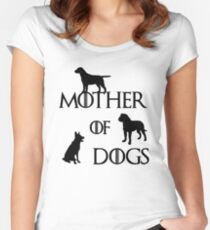 MOTHER OF DOGS Women's Fitted Scoop T-Shirt