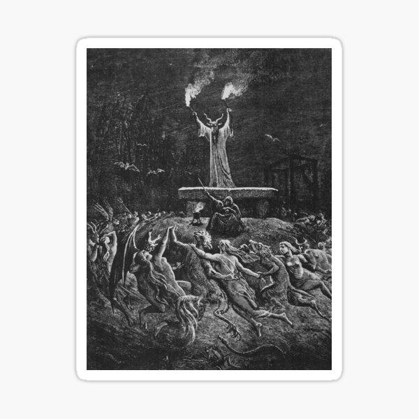 Witches Dancing at a Sabbath - Unknown Doré Sticker