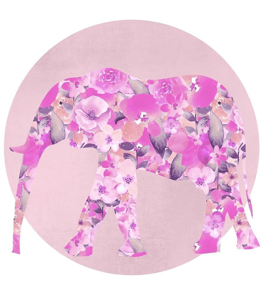 Floral Elephant by artsandsoul