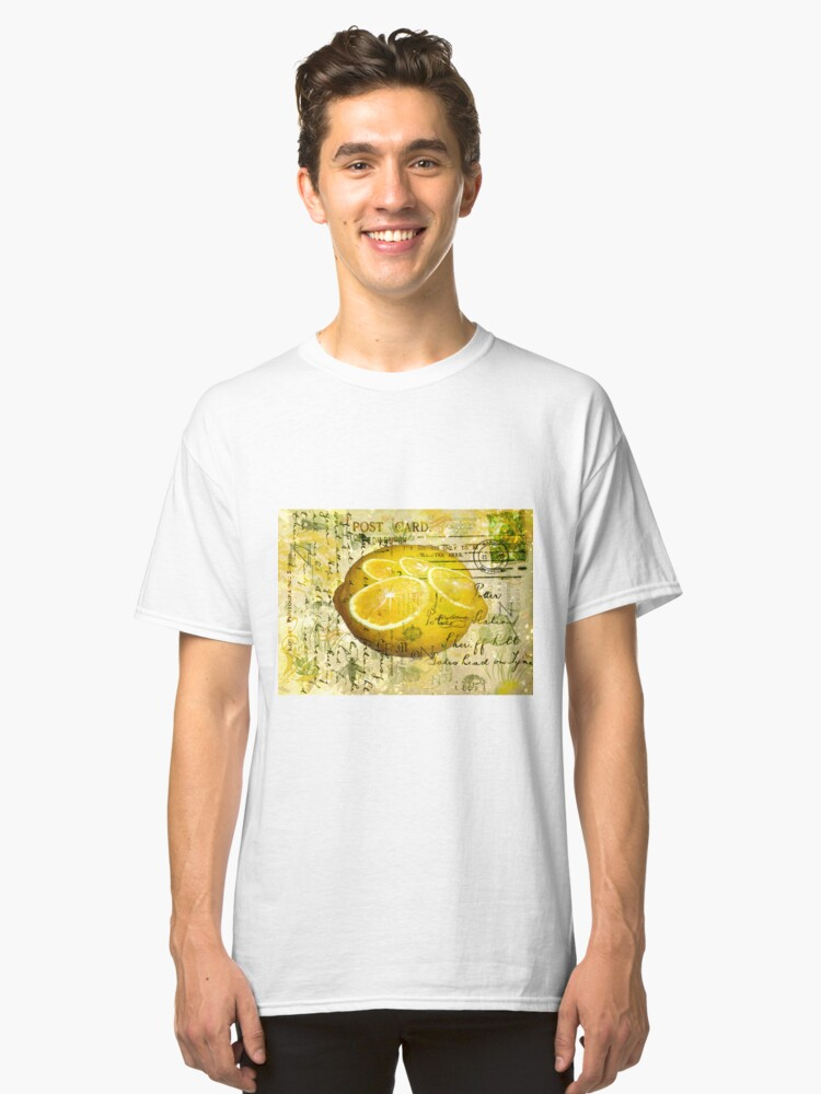 Postcard Lemons Classic T-Shirt Front