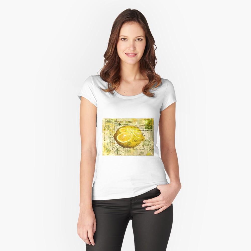 Postcard Lemons Women's Fitted Scoop T-Shirt Front