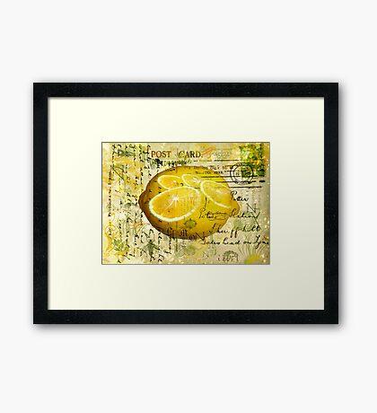 Postcard Lemons Framed Print