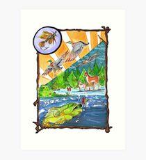 Hunting Fly Fishing Art Print