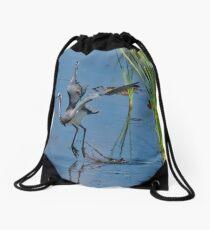 Tri-Colored Heron Takes Off Drawstring Bag