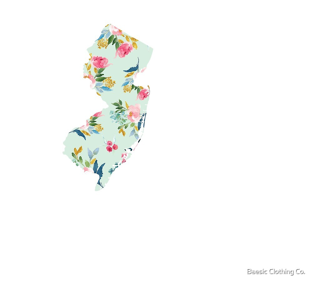 Baesic NJ Mint Floral by Baesic Clothing Co.