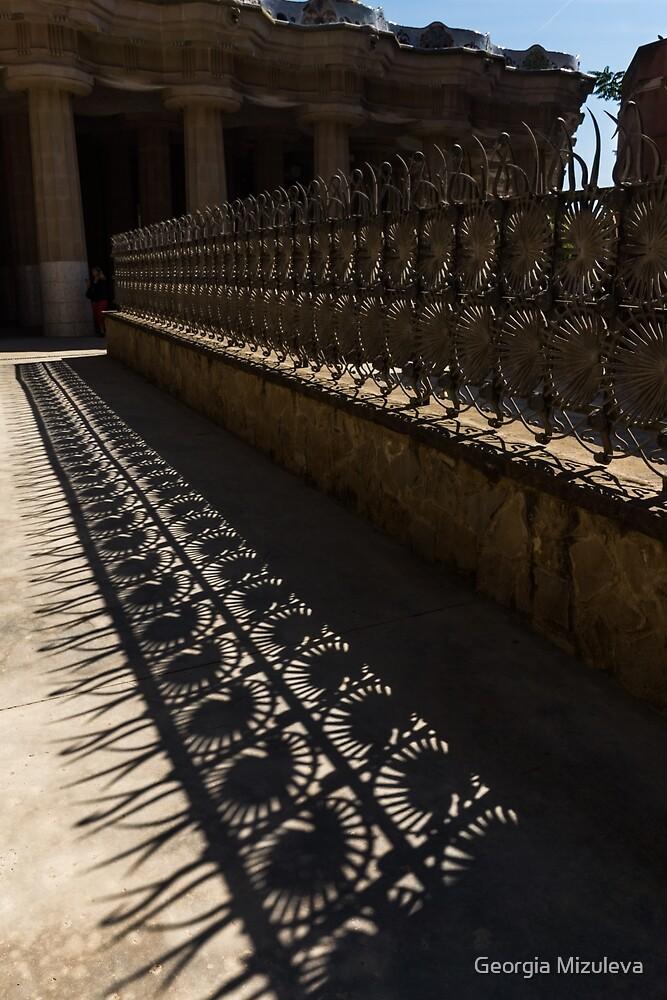 Shapes and Shadows - Antoni Gaudi, Park Guell, Barcelona, Catalonia, Spain by Georgia Mizuleva