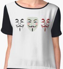 Disobedience mask Chiffon Top